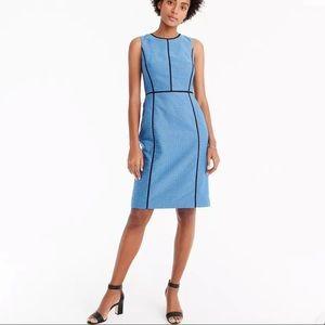 J.Crew Paneled Sheath Blue Dress In Foulard Print